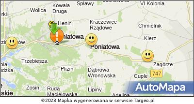 Mapa Polski Targeo. Trasa Kolumny III 4.08