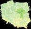 Województwo mazowieckie - mapa