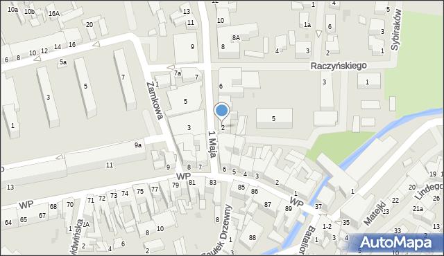 Białogard, 1 Maja, 2, mapa Białogard