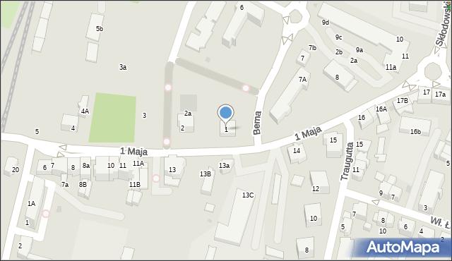 Lubin, 1 Maja, 1, mapa Lubin