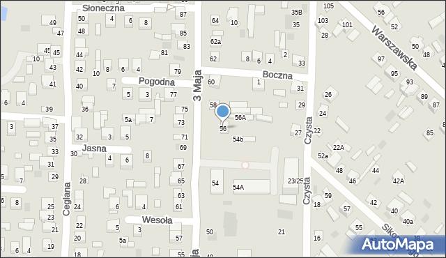 Międzyrzec Podlaski, 3 Maja, 56, mapa Międzyrzec Podlaski