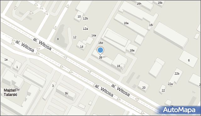 Lublin, Aleja Witosa Wincentego, 16, mapa Lublina