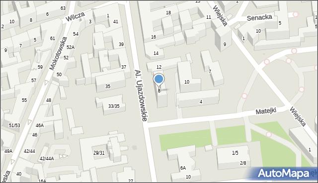 Warszawa, Aleje Ujazdowskie, 8, mapa Warszawy