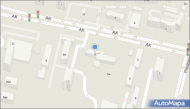 Kraków, Armii Krajowej, 5, mapa Krakowa