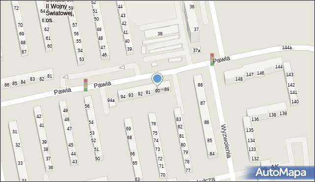 Poznań, Armii Krajowej, 90, mapa Poznania