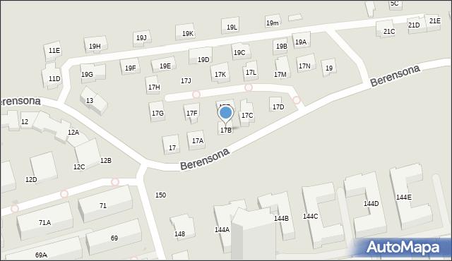 Warszawa, Berensona Leona, 17B, mapa Warszawy