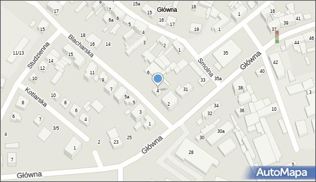 Poznań, Blacharska, 4, mapa Poznania
