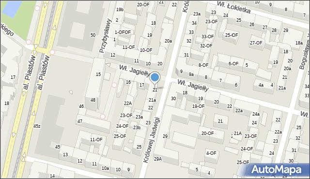 Szczecin, bł. Królowej Jadwigi, 21, mapa Szczecina