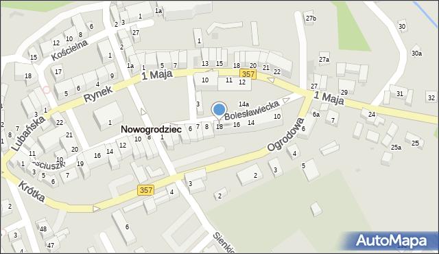 Nowogrodziec, Bolesławiecka, 18, mapa Nowogrodziec