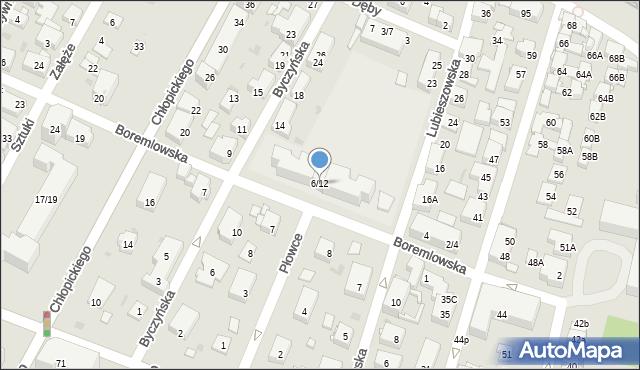 Warszawa, Boremlowska, 6/12, mapa Warszawy