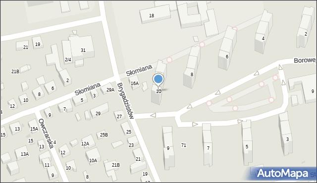 Warszawa, Borowej Góry, 10, mapa Warszawy