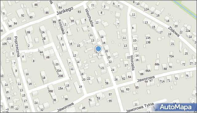 Katowice, Braci Wiechułów, 17, mapa Katowic