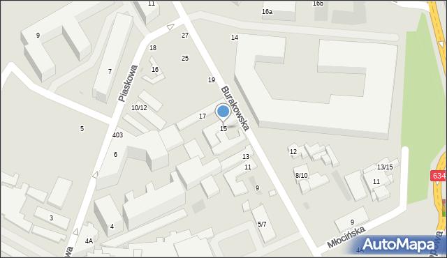Warszawa, Burakowska, 15, mapa Warszawy