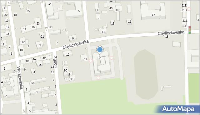 Piaseczno, Chyliczkowska, 14, mapa Piaseczno
