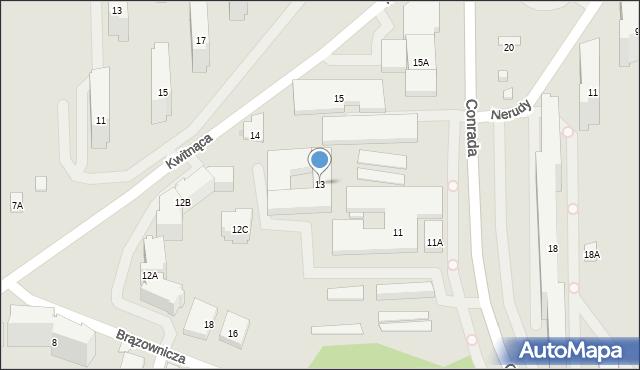 Warszawa, Conrada Josepha, 13, mapa Warszawy