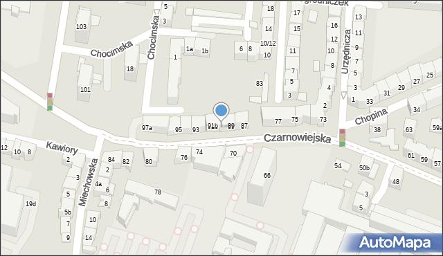 Kraków, Czarnowiejska, 91, mapa Krakowa