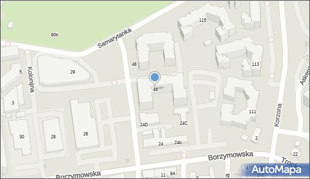 Warszawa, Dalanowska, 46, mapa Warszawy