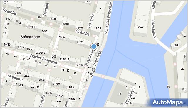 Gdańsk, Długie Pobrzeże, 28, mapa Gdańska