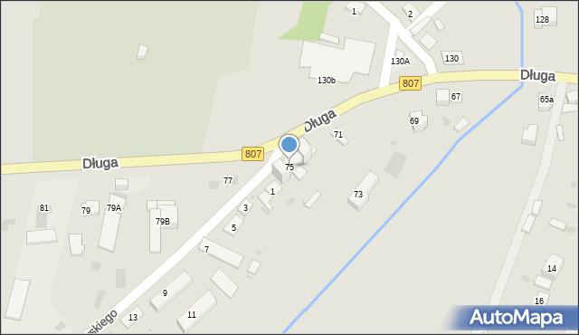 Żelechów, Długa, 75, mapa Żelechów
