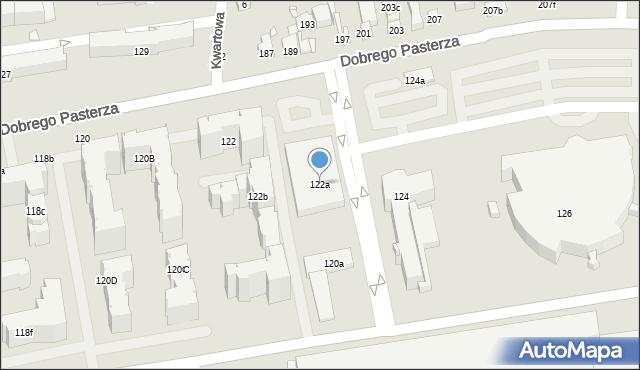 Kraków, Dobrego Pasterza, 122a, mapa Krakowa