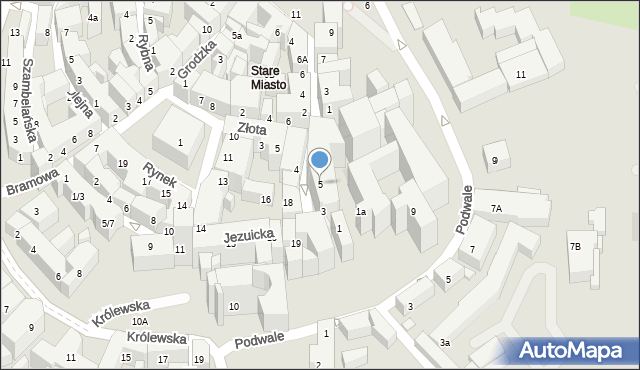 Lublin, Dominikańska, 5, mapa Lublina