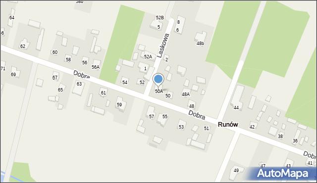 Runów, Dobra, 50A, mapa Runów