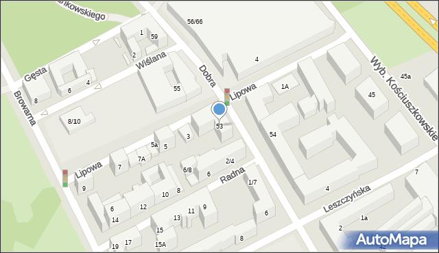 Warszawa, Dobra, 53, mapa Warszawy