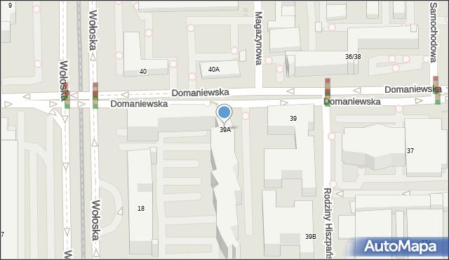 Warszawa, Domaniewska, 39A, mapa Warszawy