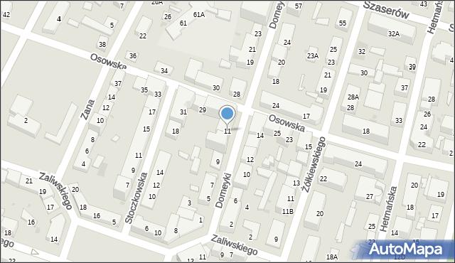 Warszawa, Domeyki Ignacego, 11, mapa Warszawy
