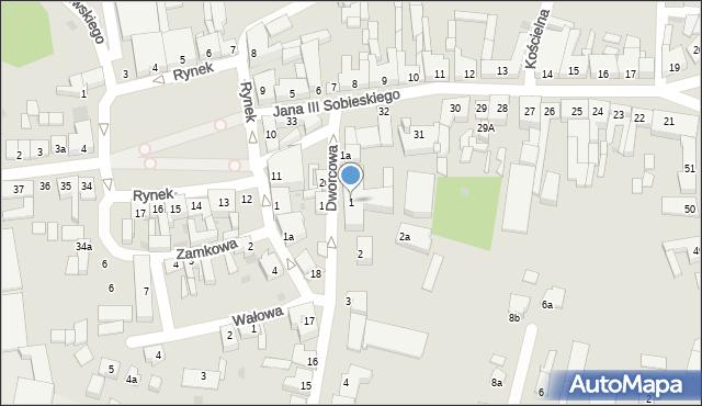 Gniewkowo, Dworcowa, 1, mapa Gniewkowo