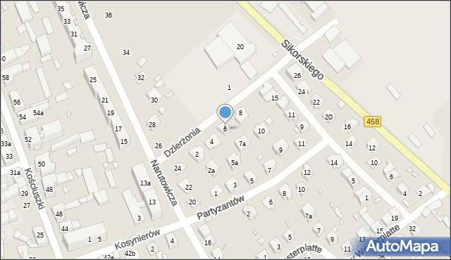 Lewin Brzeski, Dzierżonia, 6, mapa Lewin Brzeski