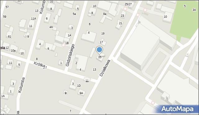 Warszawa, Działkowa, 15, mapa Warszawy