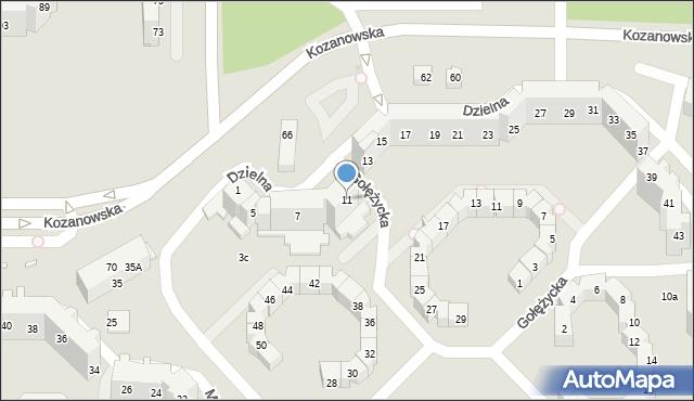 Wrocław, Dzielna, 11, mapa Wrocławia
