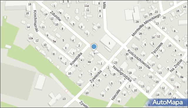 Kraków, Fałęcki Rynek, 7, mapa Krakowa