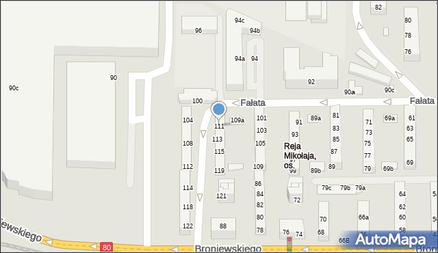 Toruń, Fałata Juliana, 111, mapa Torunia