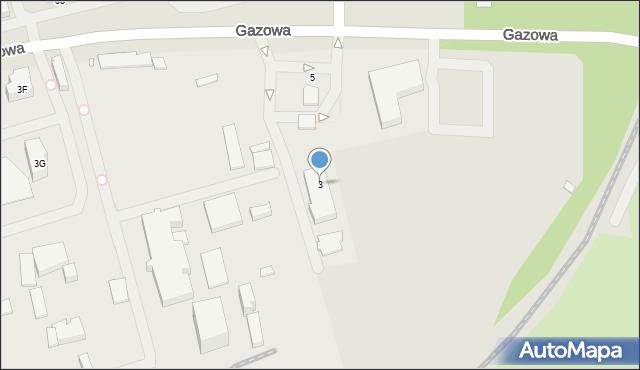 Wrocław, Gazowa, 3, mapa Wrocławia