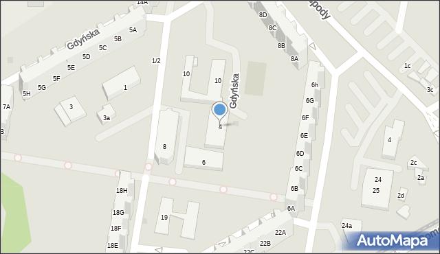 Gdańsk, Gdyńska, 4, mapa Gdańska
