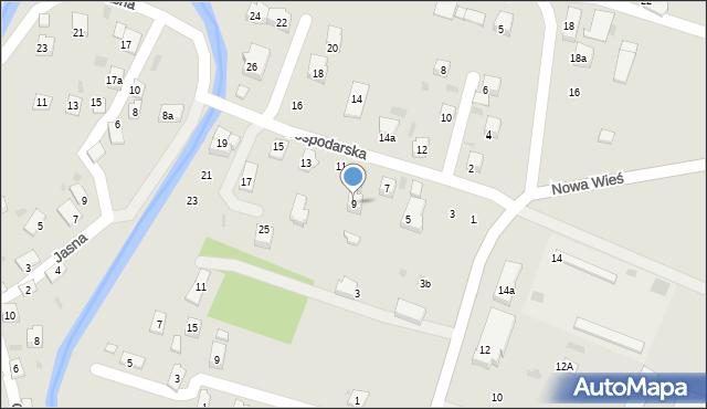 Rymanów, Gospodarska, 9, mapa Rymanów