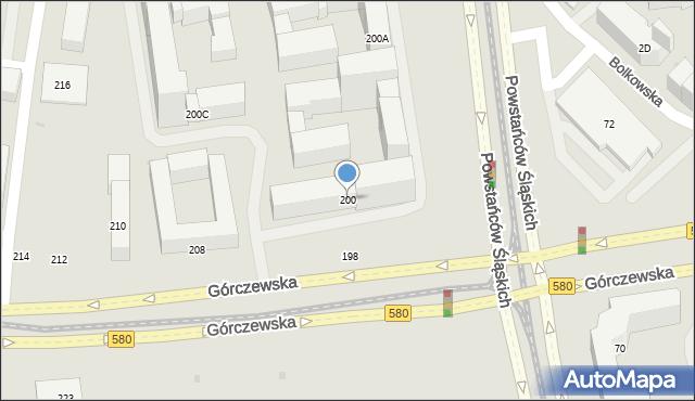Warszawa, Górczewska, 200, mapa Warszawy