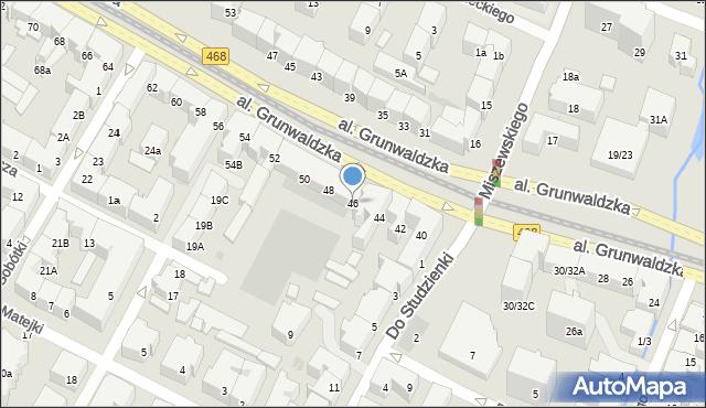 Gdańsk, Grunwaldzka, 46, mapa Gdańska