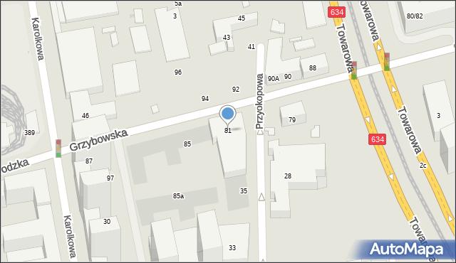 Warszawa, Grzybowska, 81, mapa Warszawy