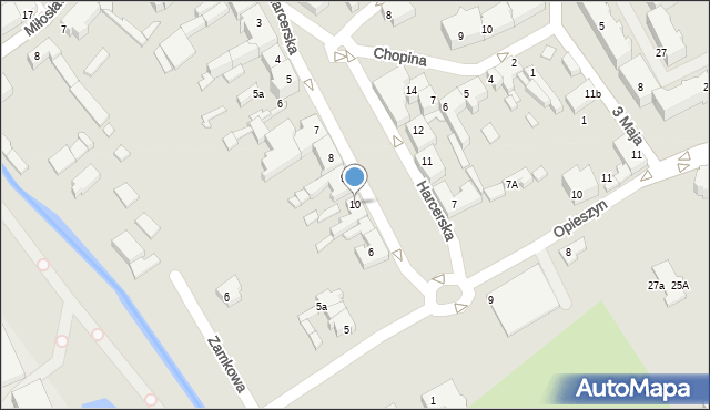 Września, Harcerska, 10, mapa Wrześni