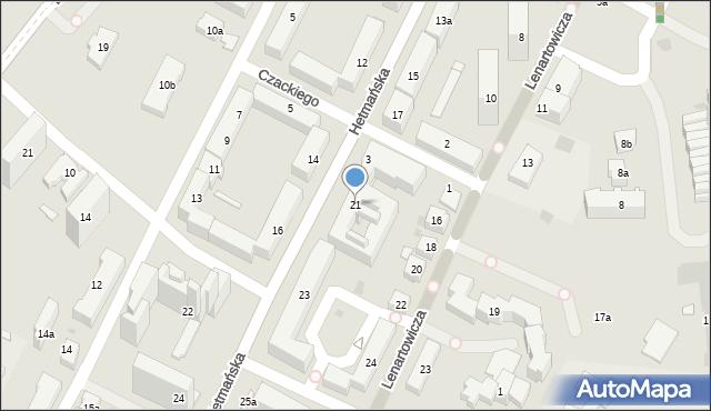 Rzeszów, Hetmańska, 21, mapa Rzeszów
