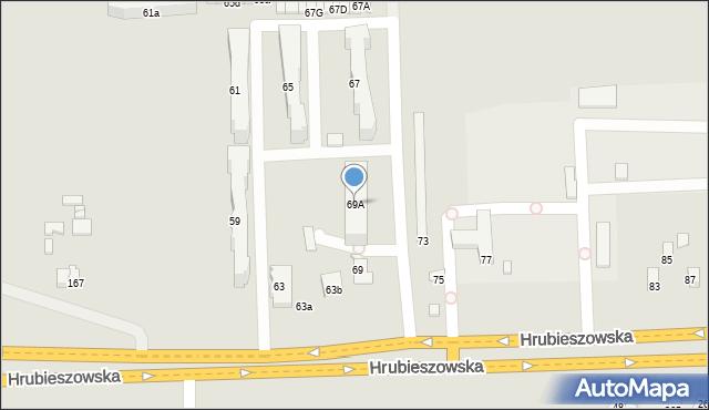 Zamość, Hrubieszowska, 69A, mapa Zamościa