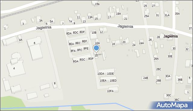 Skawina, Jagielnia, 10, mapa Skawina