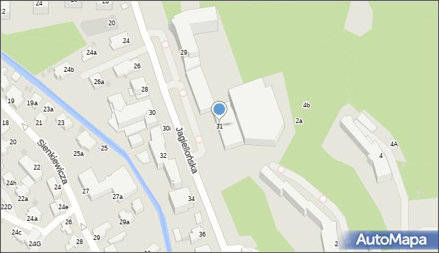 Zakopane, Jagiellońska, 31, mapa Zakopanego