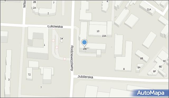 Warszawa, Jubilerska, 1-3, mapa Warszawy