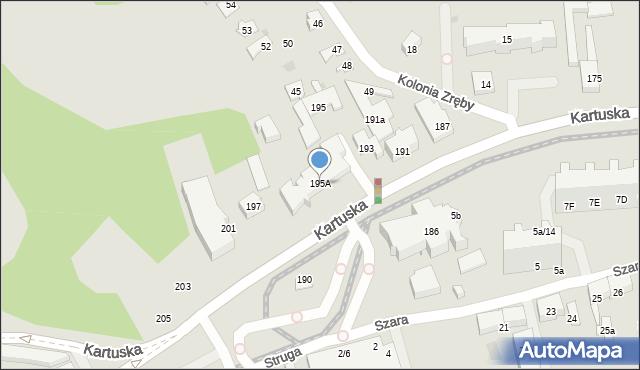 Gdańsk, Kartuska, 195A, mapa Gdańska
