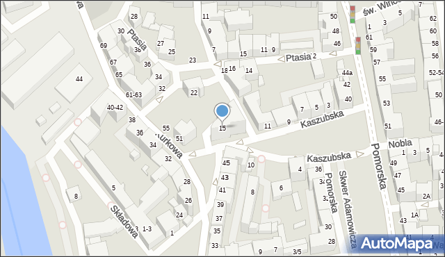 Wrocław, Kaszubska, 15, mapa Wrocławia