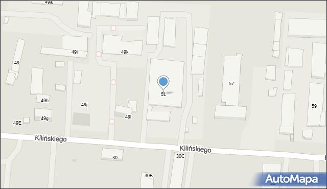 Ostrowiec Świętokrzyski, Kilińskiego Jana, 51, mapa Ostrowiec Świętokrzyski